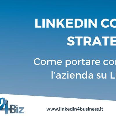 Corso LinkedIn Company Strategy III edizione 2019
