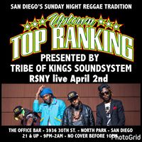 Sunday April 2nd-RSNY inside Uptown Top Ranking w Tribe of Kings