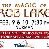 ROB LAKE Friends for Folks &amp Norman Animal Welfare Feb 9 &amp 10