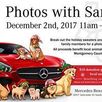 Mercedes-Benz of The Woodlands Santa PAWS-Photos with Santa