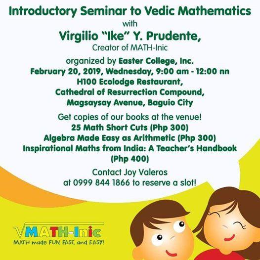 Introductory Seminar to Vedic Mathematics