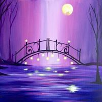 MAGICAL MOONLIT VIOLET BRIDGE
