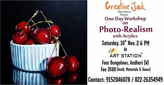 One Day Workshop for Photo- Realism with Acrylics