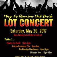 May 24 Reunion Out Back Lot Concert
