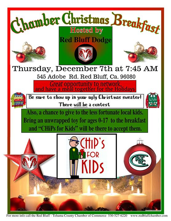 Red Bluff Dodge >> 3rd Ann Chamber Christmas Breakfast Spons By Red Bluff