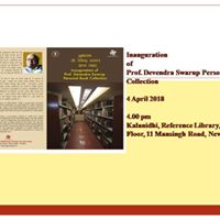 Inauguration of Prof. Devendra Swarup Personal Book Collection