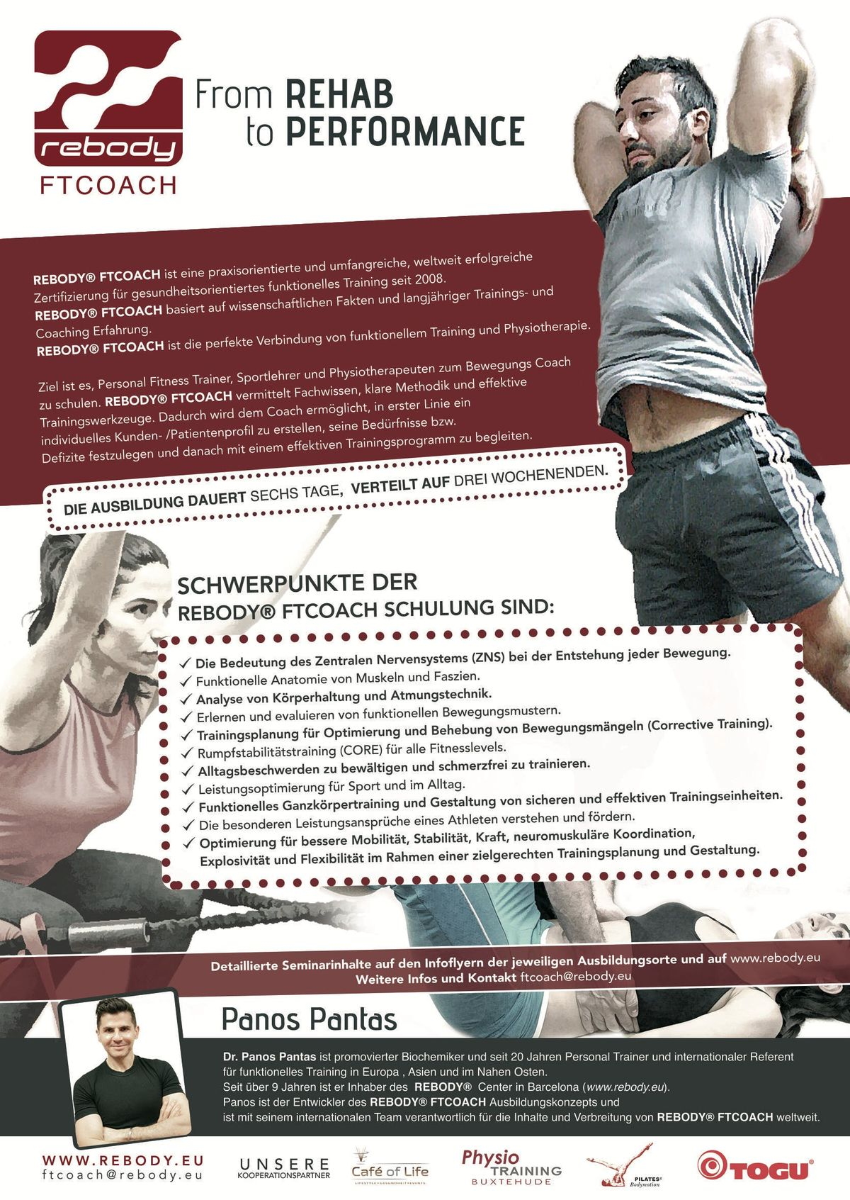 Rebody FTCOACH - Aus- Fortbildung fr Trainer Physiotherapeuten & Sport Coaches