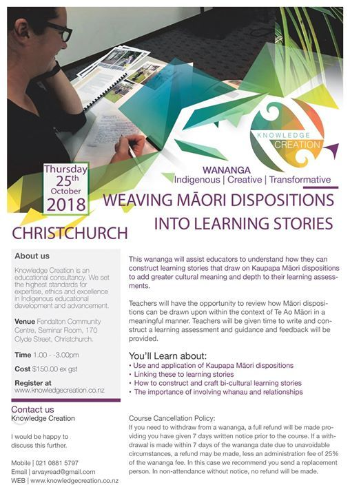 Pld Christchurch Weaving Maori Dispositions Learning Stories At