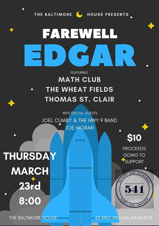 Farewell Edgar w The Wheat Fields Math Club Thomas St. Clair