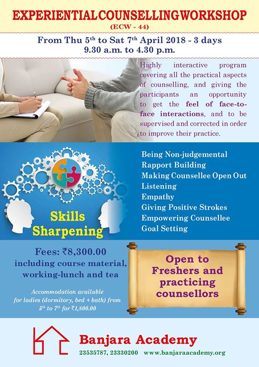 Banjara Academy presents Experiential Counselling Workshop
