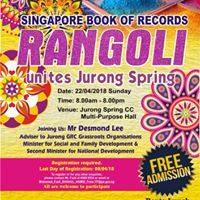 Rangoli unites Jurong Spring (SINGAPORE BOOK OF RECORDS)
