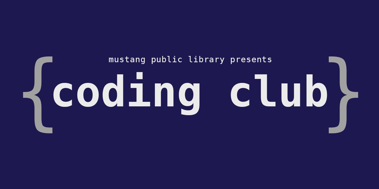 coding club may accepting new students at mustang public