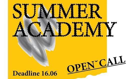 Open call Summer Academy 2019