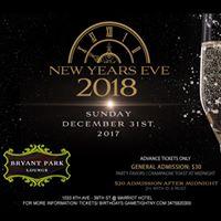 Bryant Park Lounge New Years Eve NYE 2018