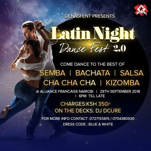 Latin night dance fest 2.0 blue and white edition