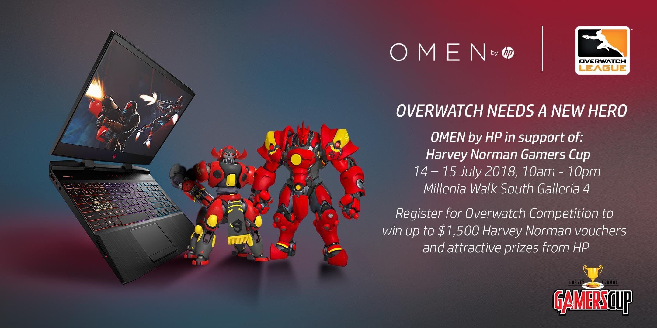 OMEN by HP in support of Harvey Norman Gamers Cup