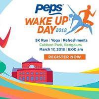 Peps Wake Up Day 2018 (5K Run &amp Yoga) Free Registrations