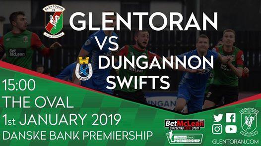 Glentoran vs Dungannon Swifts  New Years Day