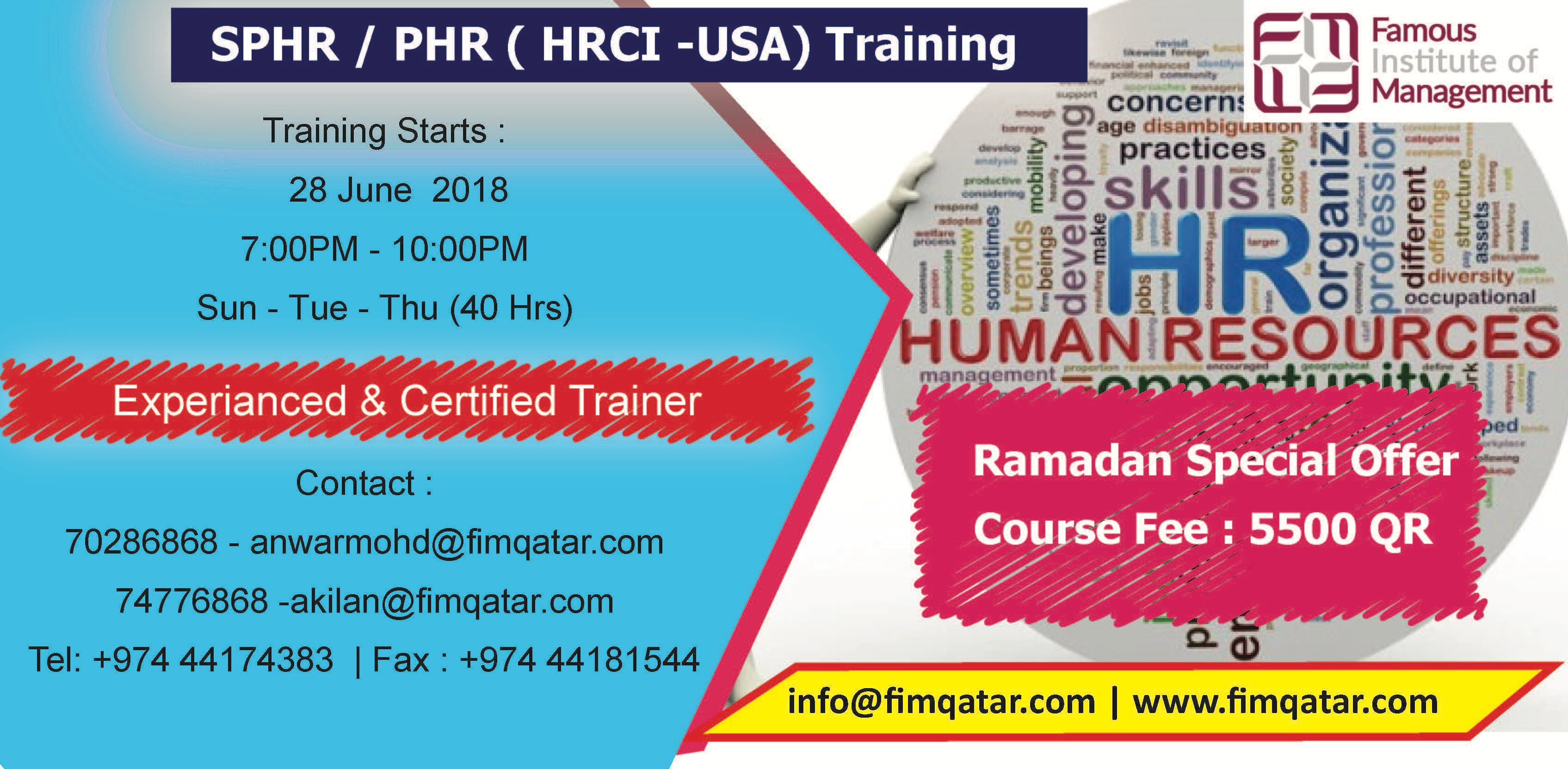 Phr Sphr Hrci Usa Exam Preparation Training At Famous