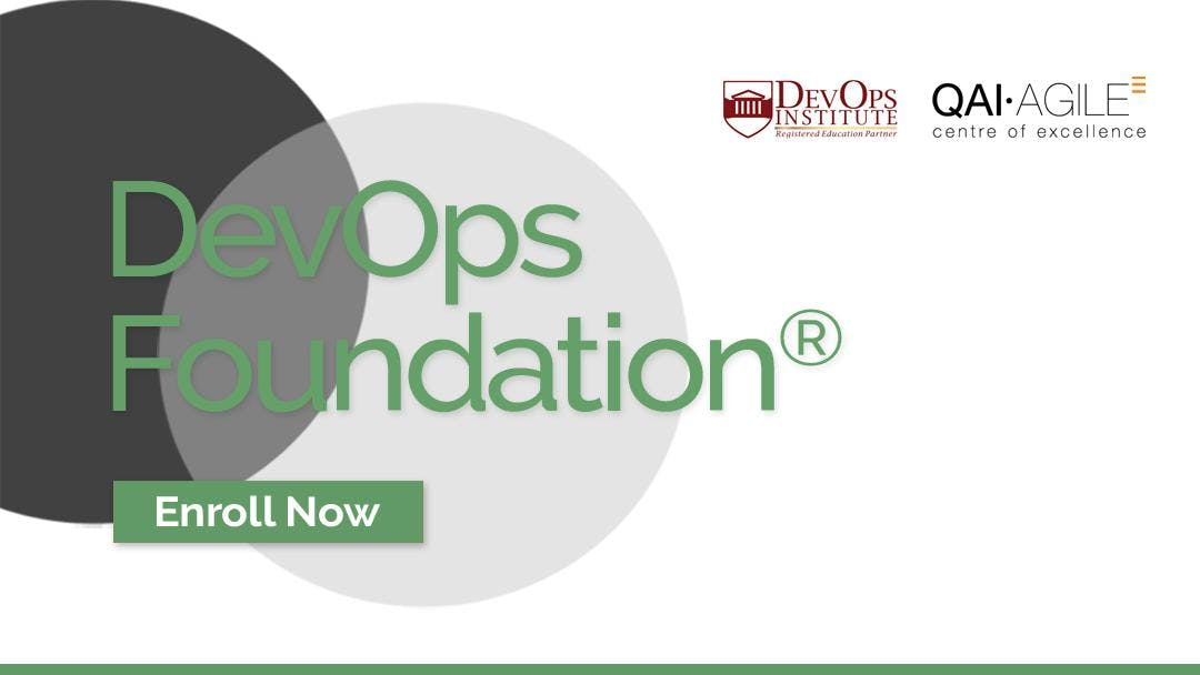 Devops Foundation Certification Training By Qai Global At Tbd Bengaluru
