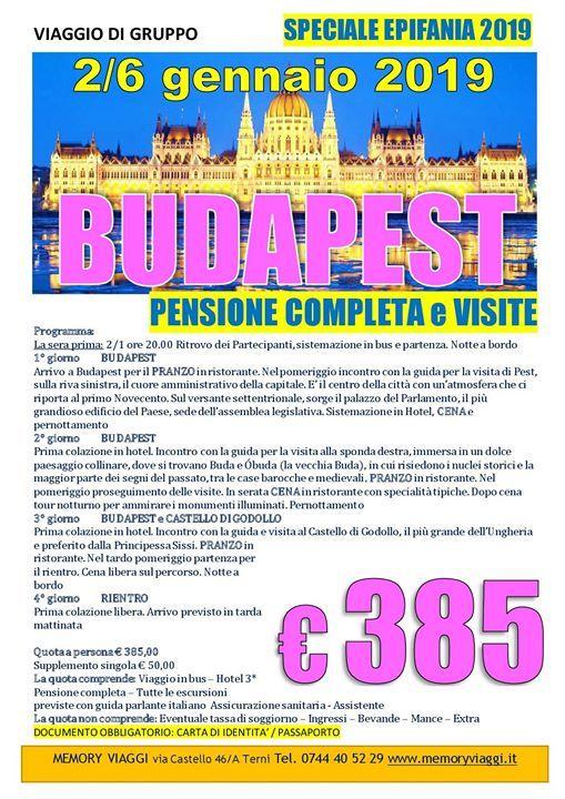 Budapest at Memory ViaggiAmoVIA CASTELLO 46/A, 05100 Terni, Terni