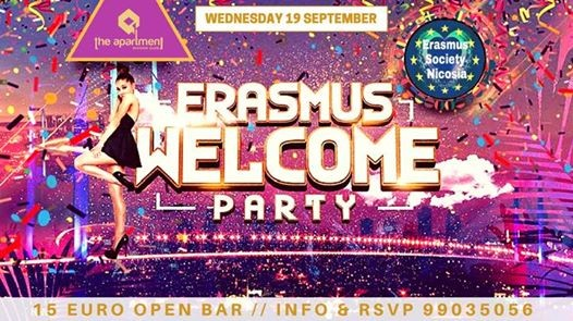 Erasmus Welcome Party  Open Bar