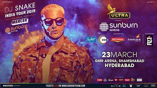 Sunburn Arena with DJ Snake & Mercer - Hyderabad