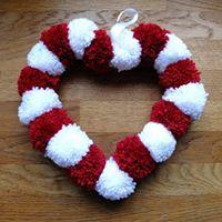 Valentines Day Pom-Pom Wreath Craft