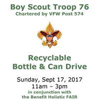 BSA Troop 76 Plainville - Bottle Drive Fundraiser