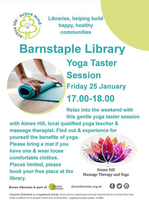 Yoga Taster session at Barnstaple Library