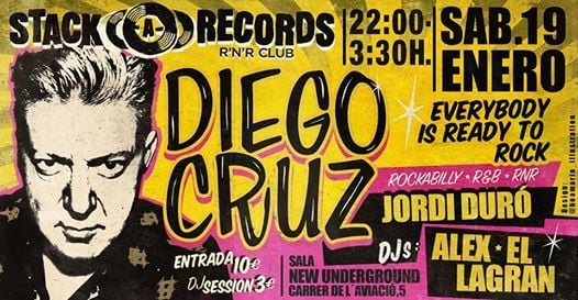 Diego Cruz at the Stack-A-Records Rock and Roll Club