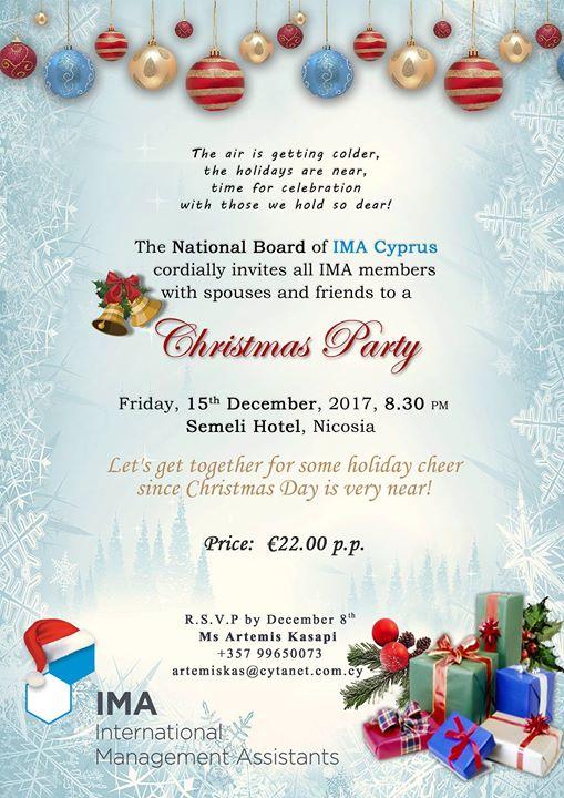 IMA Cyprus Christmas Party Celebration