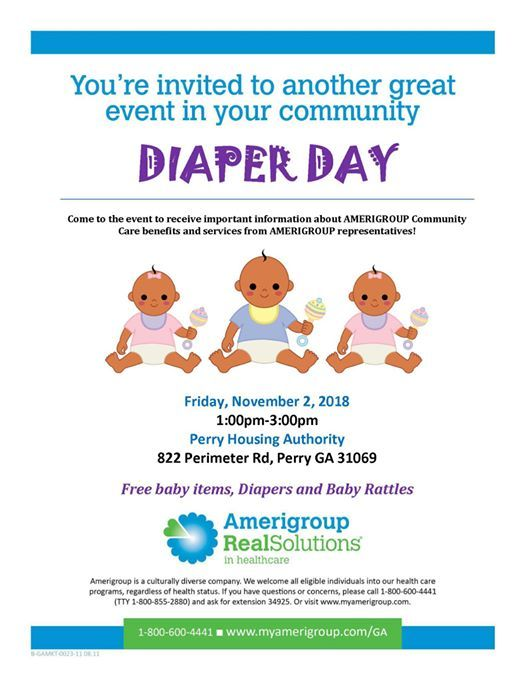 Diaper Day at Perry Housing Authority, Perry