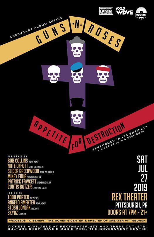 LAS Guns N Roses Appetite For Destruction - Pittsburgh 727