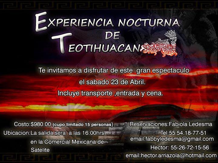 Experiencia nocturna en teotihuacan at zona arqueologica Espectaculo de luces teotihuacan 2018