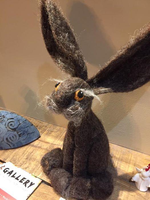 Make a Hare-Needle felting with  Barbara Meek