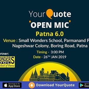 YourQuote Open Mic Patna 6.0
