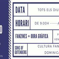 Inauguraci parada fanzinera Mercat Sant Antoni fanzinismo