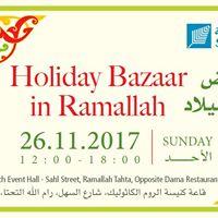 Holiday Bazaar in Ramallah