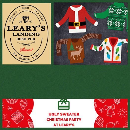 Ugly Sweater Christmas Party At Learys Maine
