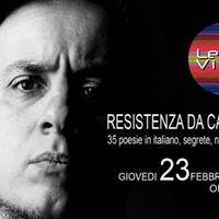Resistenza Da Camera - Presentazione del libro di Daniele Coccia
