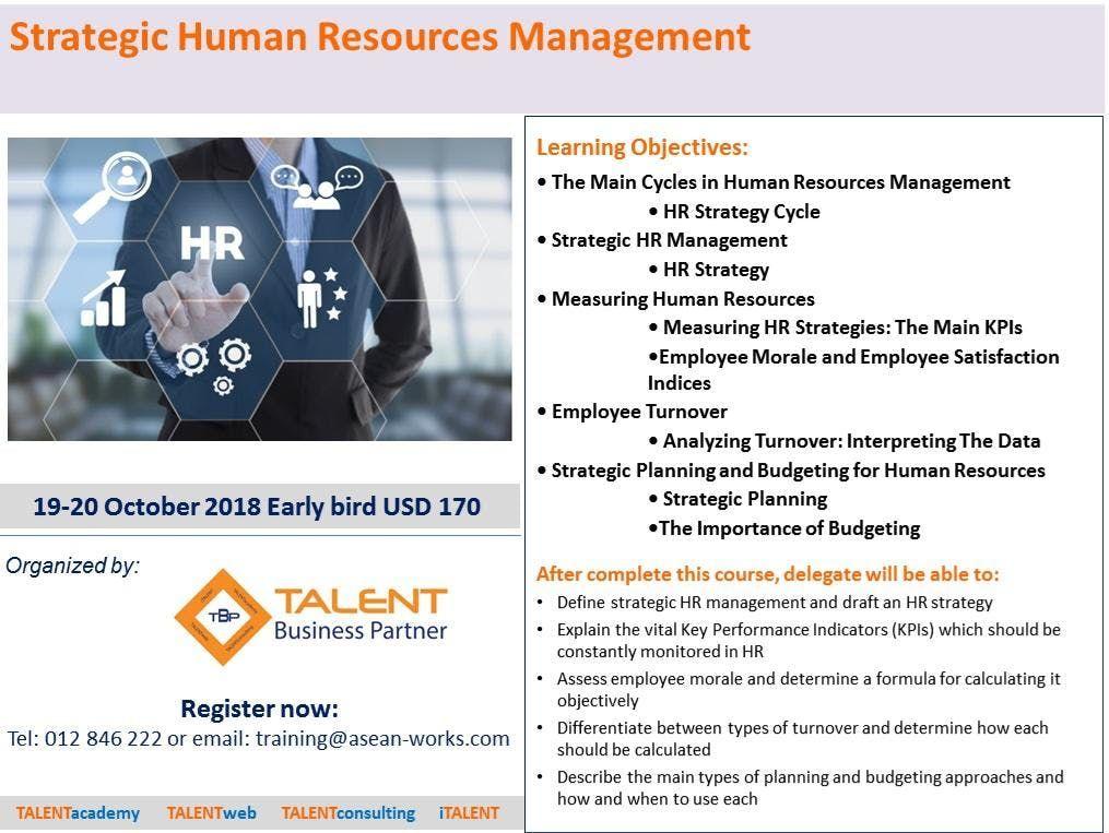 Strategic Human Resources Management At Phnom Penh Hotel Phnom Penh