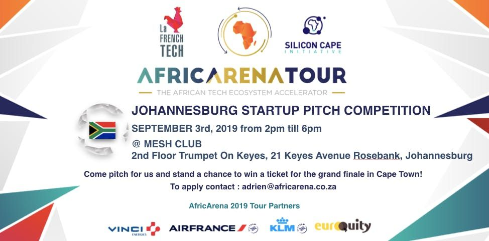 AfricArena Tour 2019 - Johannesburg Pitch Event