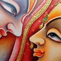 Goddess Laxmi Ji 24crt gold miniature painting