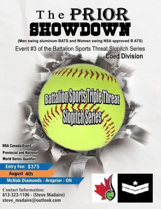 The Prior Showdown - NSA Canada - Slopitch Tournament