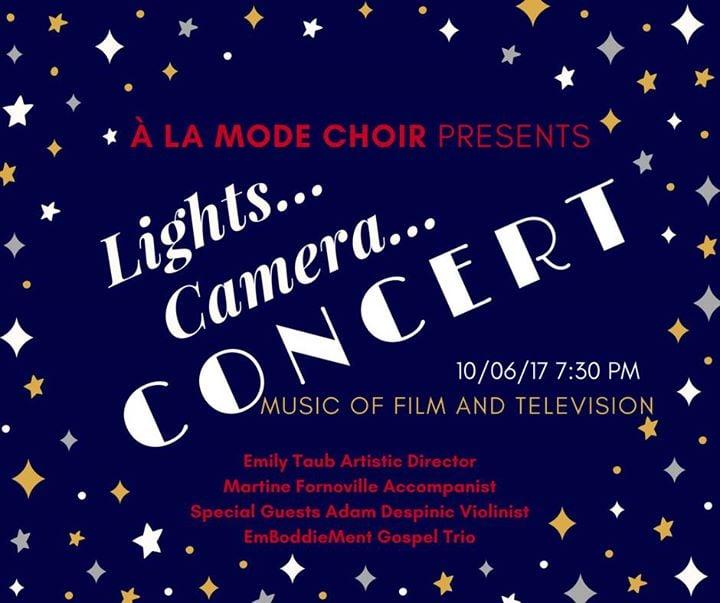 La Mode Choir-Lights Camera Concert