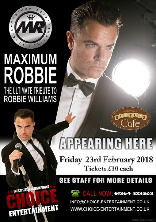 Robbie Williams Tribute 10 Tickets