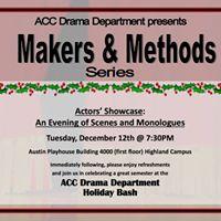 M&ampM series Actors Showcase An Evening of Scenes &amp Monologues