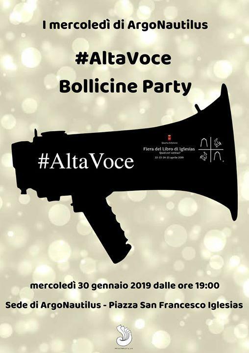 I mercoled di Argonautilus AltaVOCE Bollicine Party