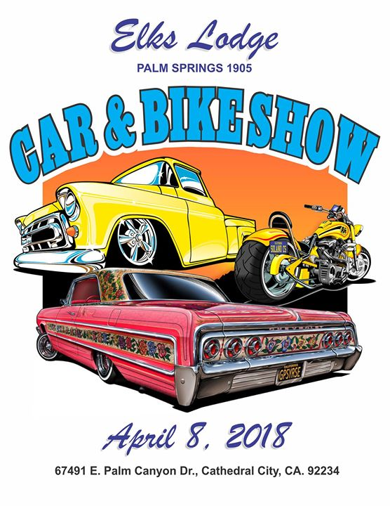 Car Bike Show At Palm Springs Elks Cathedral City - Palm springs car show